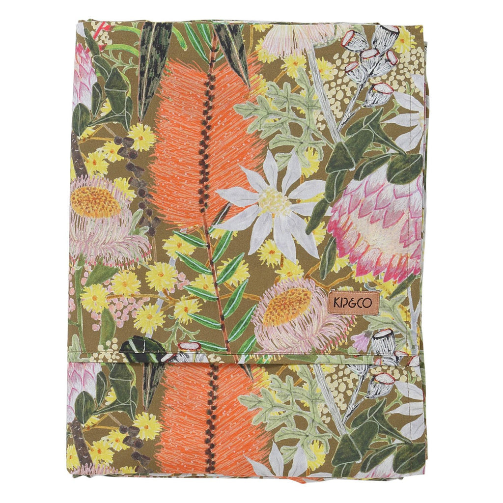 Native Plantation Cotton Flat Sheet - Queen