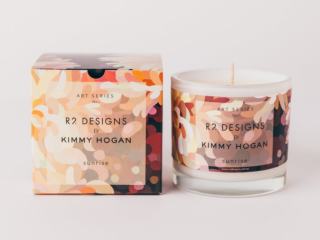 Art Series No.1 Kimmy Hogan & R2 Designs candle