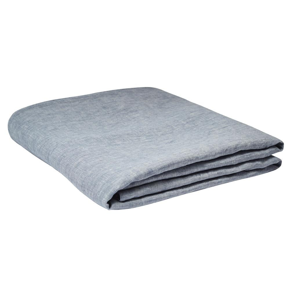 Linen Fitted Sheet Chambray
