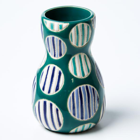Saturday Vase Blue Spot