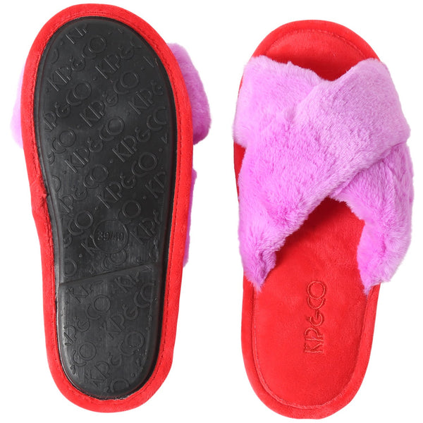 Raspberry Bubble Womens Slippers
