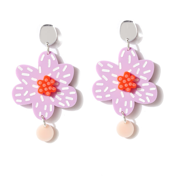 Beth Blooms Earrings- Mauve