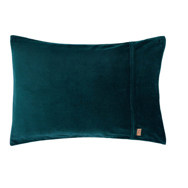 Alpine Green Velvet Pillowcase 2Pce Set