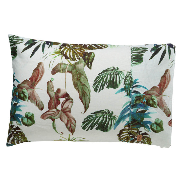 Foliage Linen Pillowcase set- 2Pce