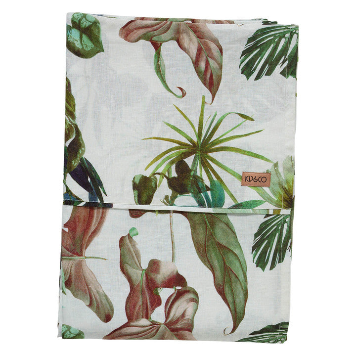 Foliage Linen Flat Sheet- Queen