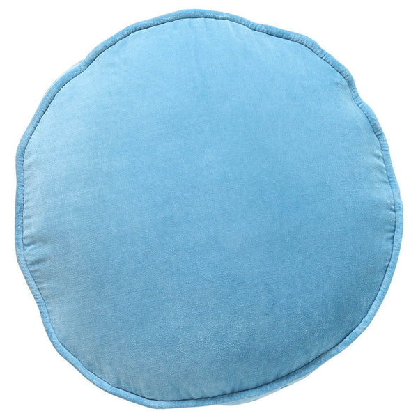 Aquamarine Blue Velvet Pea Cushion