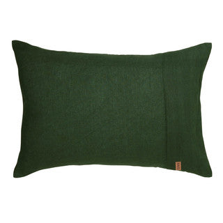 Moss Green Linen 2Pce Pillowcase Set