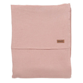 Soft Rose Linen Flat Sheet- Queen