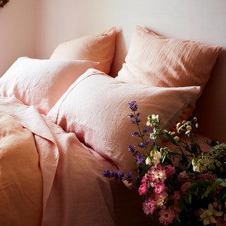 Soft Rose Linen 2Pce Pillowcase Set