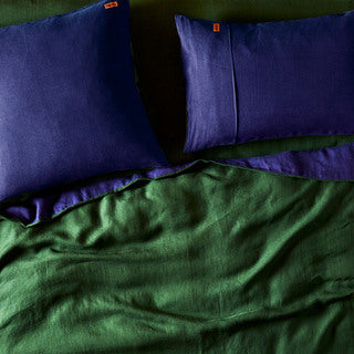 Indigo Linen 2Pce Pillowcase Set
