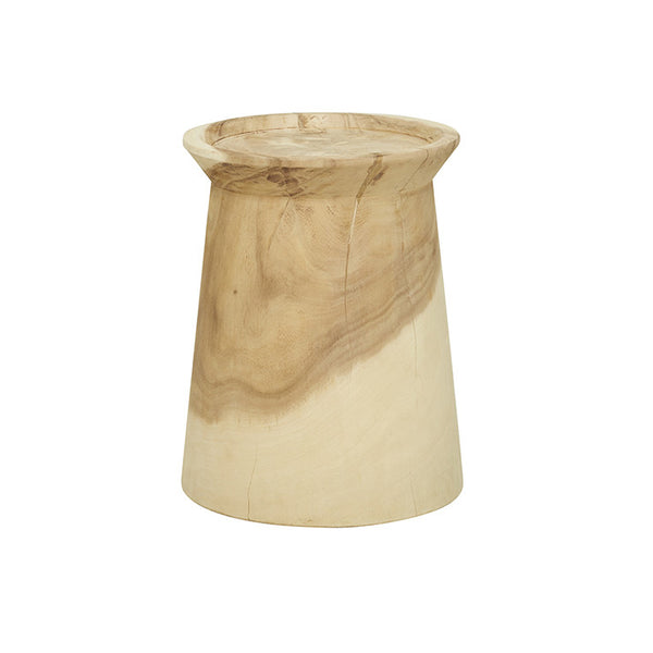 Woodland Lip Stool- Natural 330dia x 430h