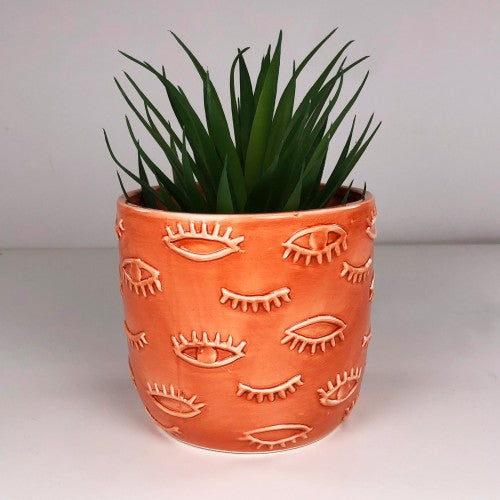 Eye Planter Coral 12cm