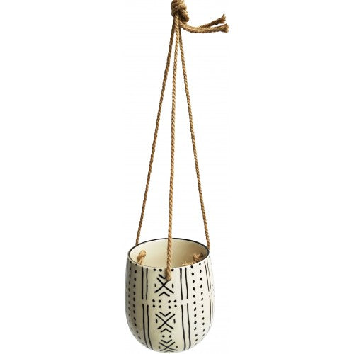 Monochrome Ceramic Hanging Planter