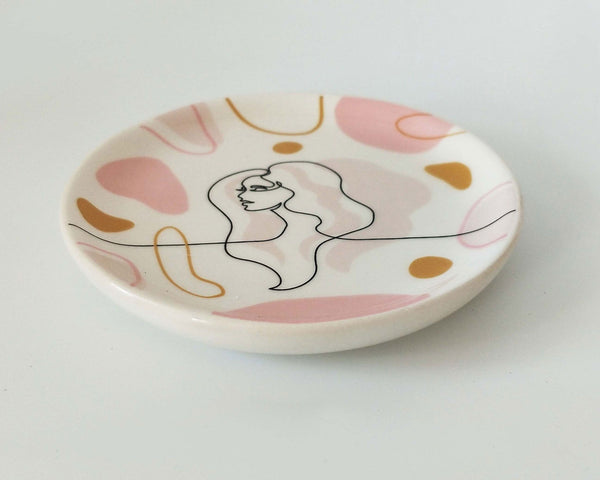 Lady Sketch Trinket Dish Peach
