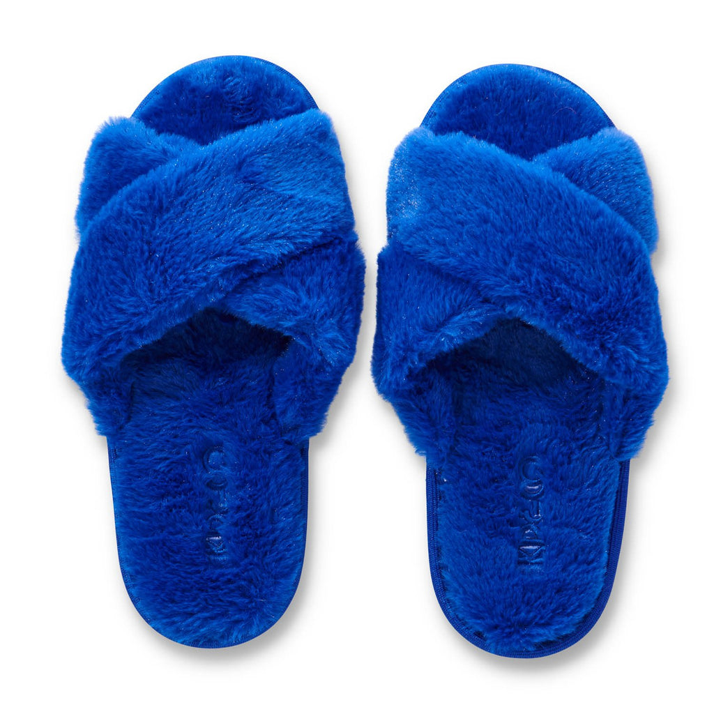 Dazzling Blue Womens Slippers