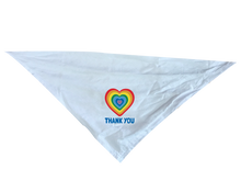 Load image into Gallery viewer, Rainbow Heart Thank You Dog Bandana