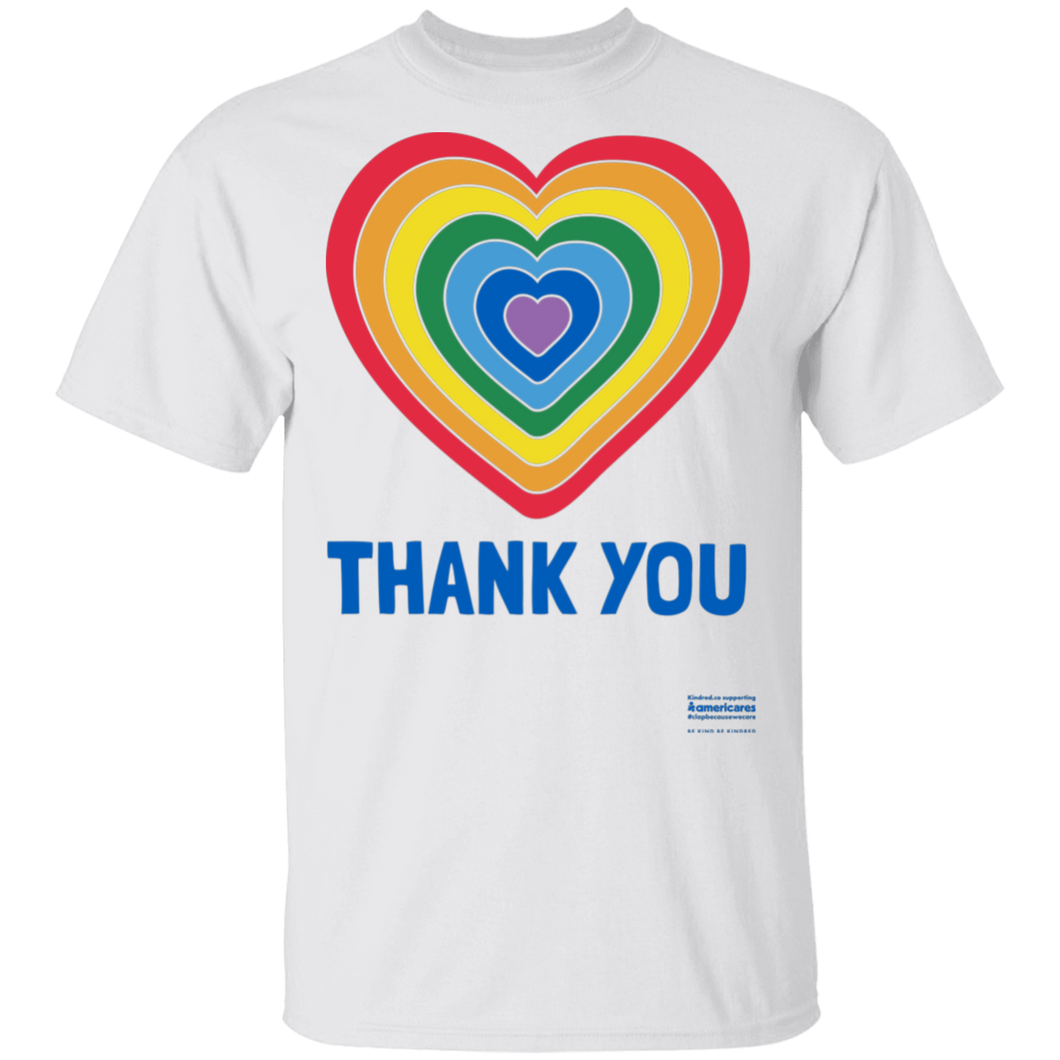 Adult Thank You Heart T-shirt