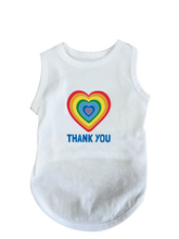 Load image into Gallery viewer, Dog Rainbow Heart Thank You Tee