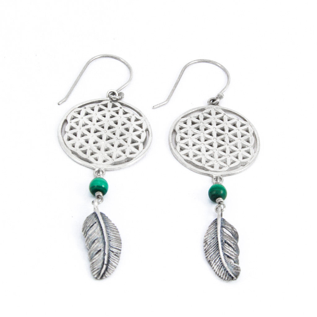 Lunar Malachite Earrings