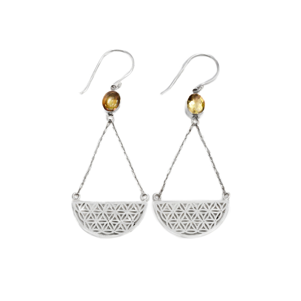 Hanging Rock Citrine Earrings