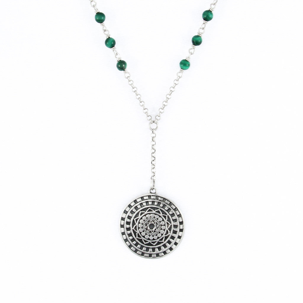 Inner Circle Malachite Necklace