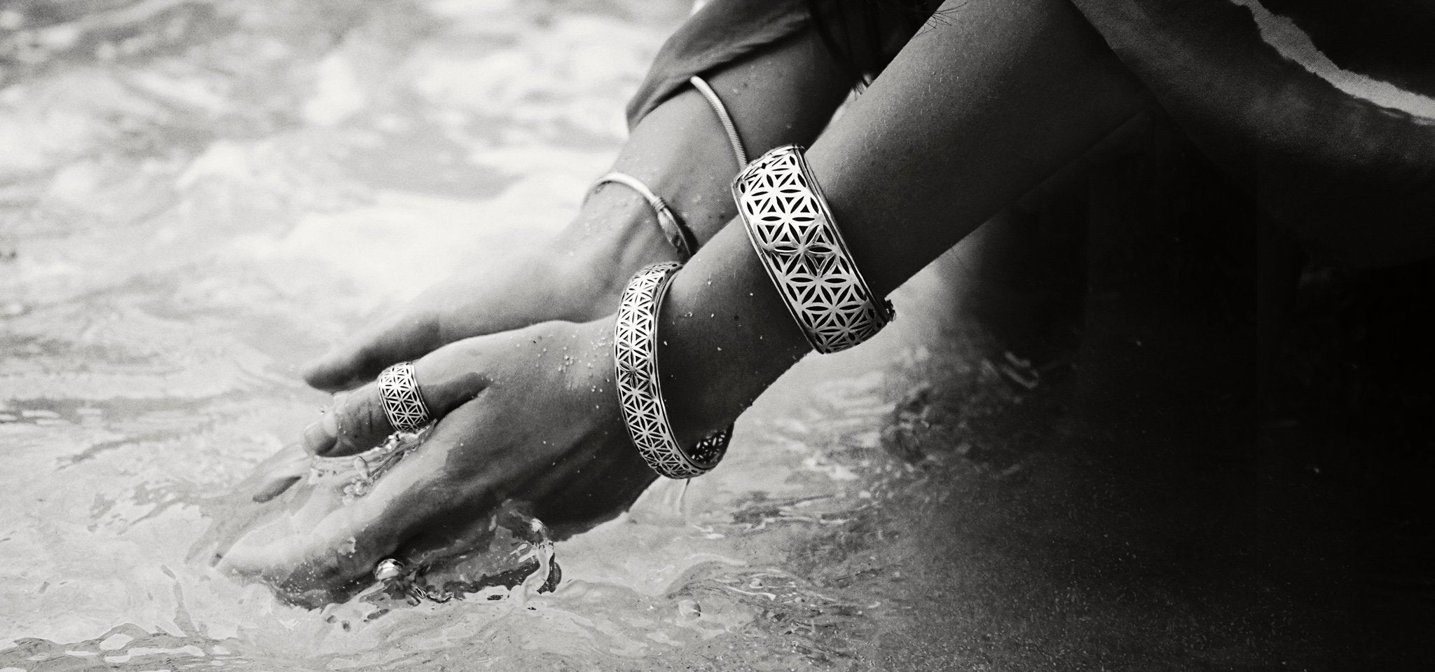 The Flower of life Silver Jewelry Collection