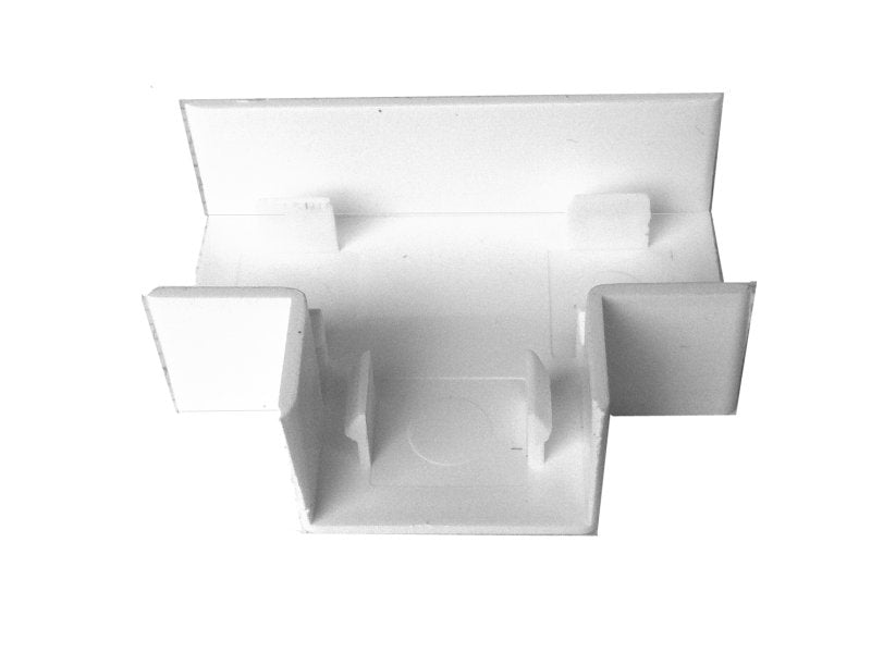 MINI TRUNKING 16x16mm Flat Tee White