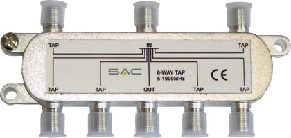 6 way tap. 27dB. Class A shielded