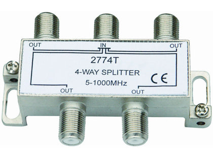 INTERNAL 4 Way 'F' Splitter (5-1000MHz)