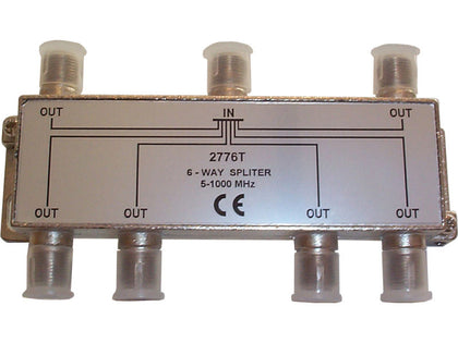 INTERNAL 6 Way 'F' Splitter (5-1000MHz)