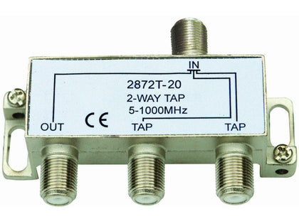 INTERNAL 2/20 'F' Type Tap (5-1000MHz)