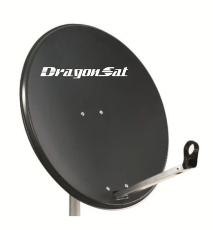 Dragonsat 80cm Hi-Gain Lightweight Solid Satellite Dish Pole Mount With Fittings