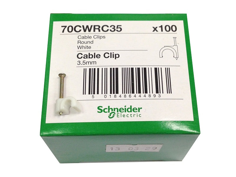 Tower (100) 3.5mm White Clips