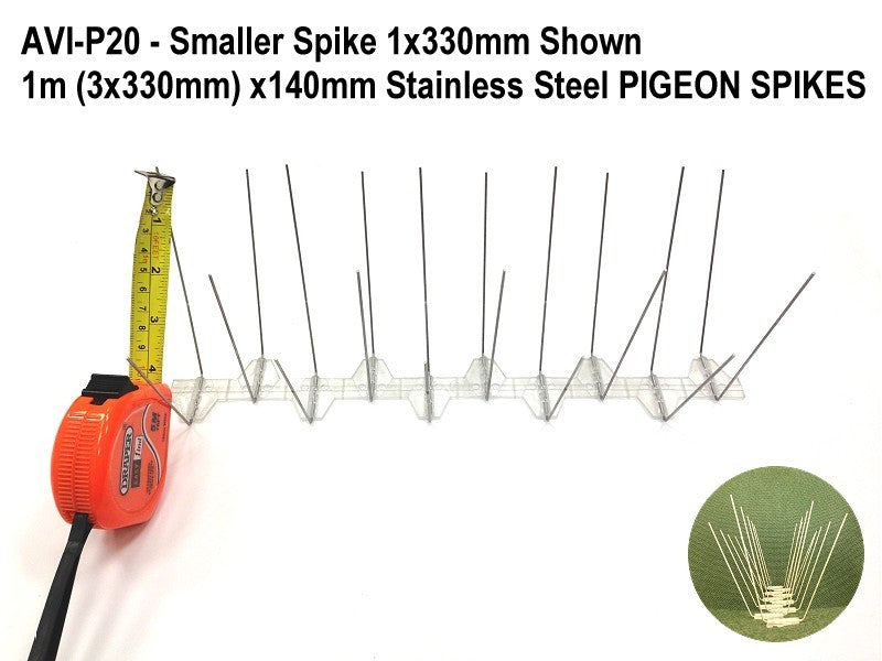 1m x140mm Stainless Steel PIGEON SPIKES