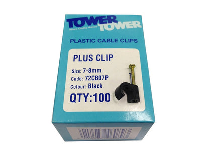 Tower (100) +7mm Black Clips