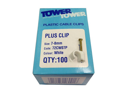 Tower (100) +7mm White Clips