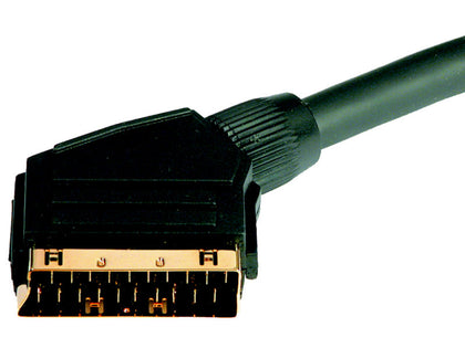 5m Scart-Scart Lead GOLD LONG