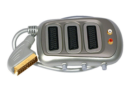 Scart-3 Scart Switched AV Selector SILVER