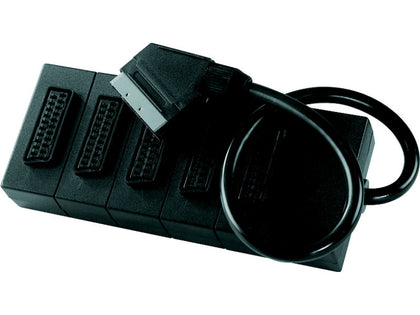 0.4m Scart-5 Scart Sockets Lead (Bagged)