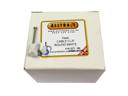 (100) 7mm White Clips