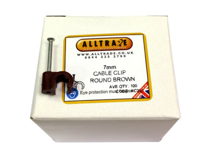 (100) 7mm Brown Clips