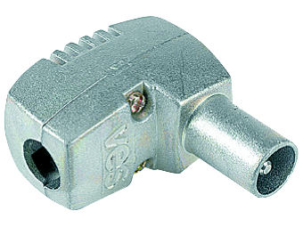 (1) TELEVES Coax Plug RIGHT ANGLE PRO
