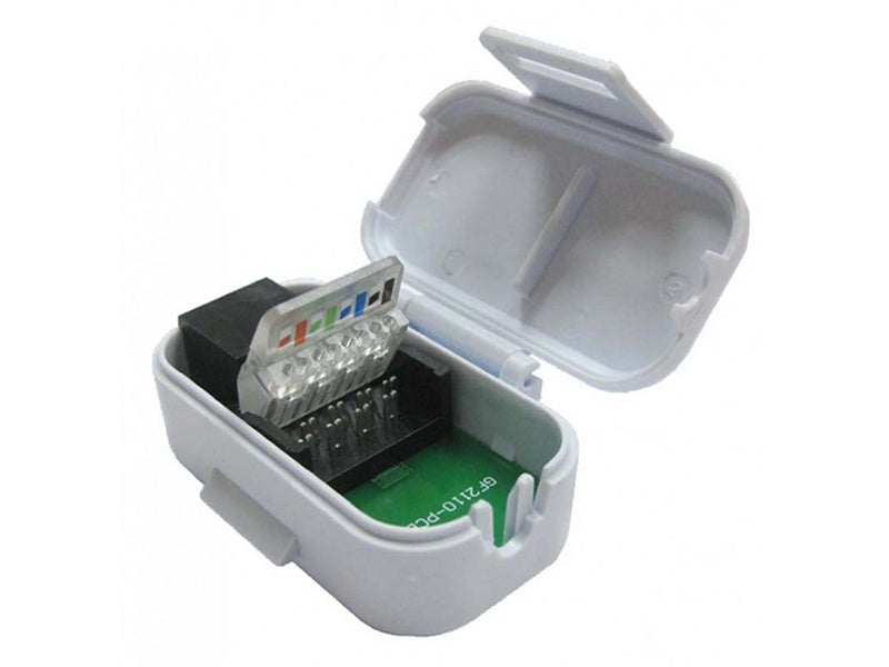 Toolless RJ45 IDC Socket c/w Hinged Lid