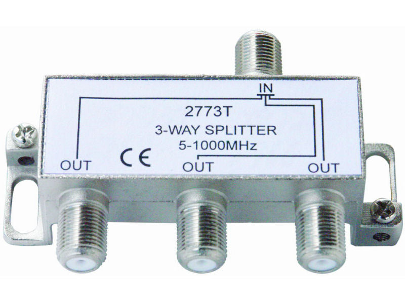 Internal 3 Way 'F' Splitter (5-1000mhz)