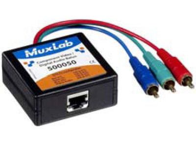 MUXLAB Video/Audio (M) Over x1 CAT5e Balun