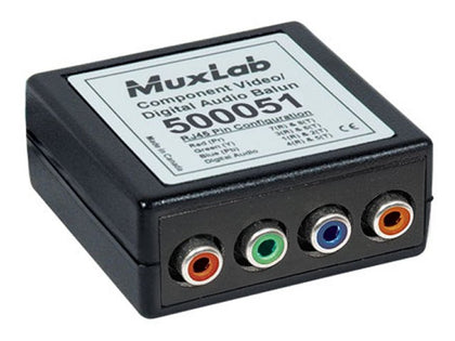 MUXLAB Video/Audio (F) Over x1 CAT5e Balun