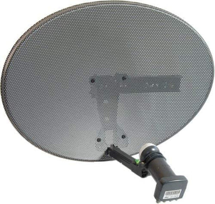 Zone 1 Satellite Dish & Quad Lnb for Sky Freesat HD SD