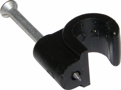 3.5mm Cable Clips BLACK (100)