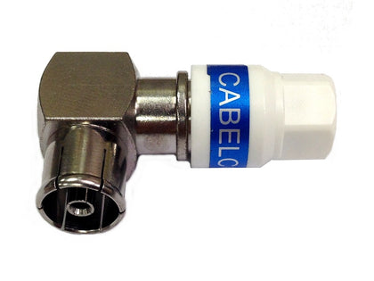(1) CABELCON Coax Plug RIGHT ANGLE FEMALE
