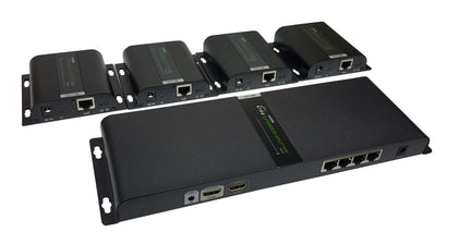 SAC 1x4 HDMI Extender+Splitter Kit over Cat5e/6 with IR